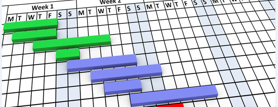 Stock photo of Gantt Chart Closeup