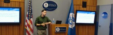 Cory Leading FEMA UX workshop